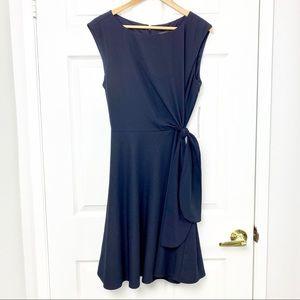 NWT Tahari classic style navy blue midi dress